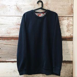 navy crewneck sweatshirt // Izod